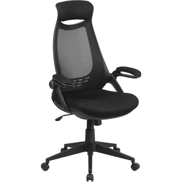Flash Furniture High Back Mesh Office Chair with Flip-Up Arms