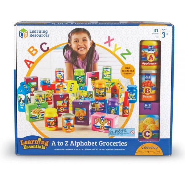 Learning Resources A-Z Alphabet Groceries Activity Set