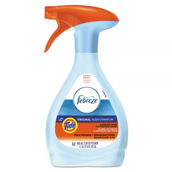 Febreze FABRIC Refresher & Odor Eliminator, Tide Original, 27 oz Spray Bottle, 6/Carton