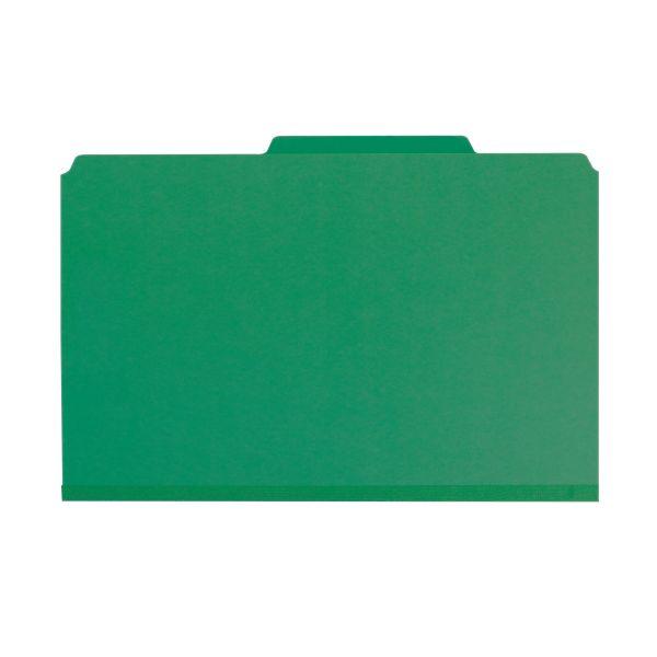 Smead 2-Divider PressGuard Classification Folders with SafeSHIELD Fasteners