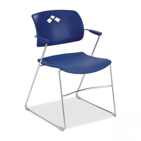 Safco Veer Series Plastic Stacking Chairs With Arms