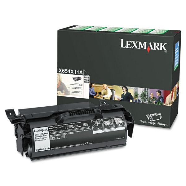 Lexmark X654X11A Black Extra High Yield Return Program Toner Cartridge