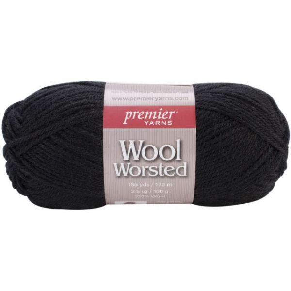 Premier Wool Worsted Yarn - True Black
