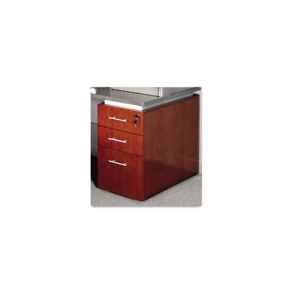 Tiffany Industries Eclipse Series Box/Box/File Pedestal for Desk Top, Warm Cherry