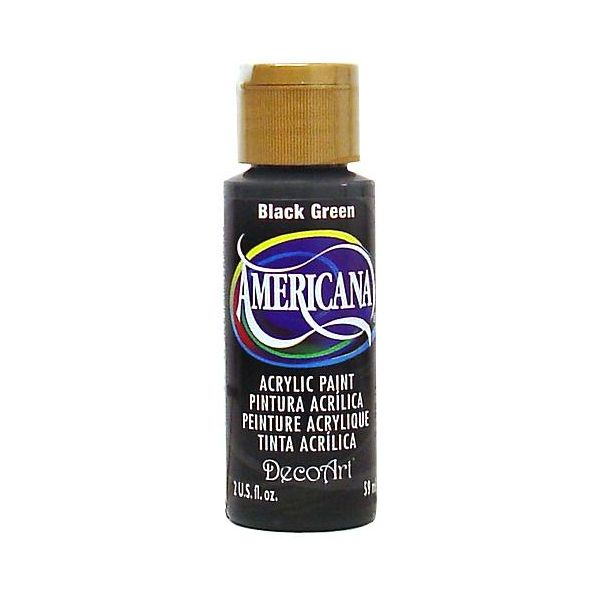 Deco Art Americana Black Green Acrylic Paint