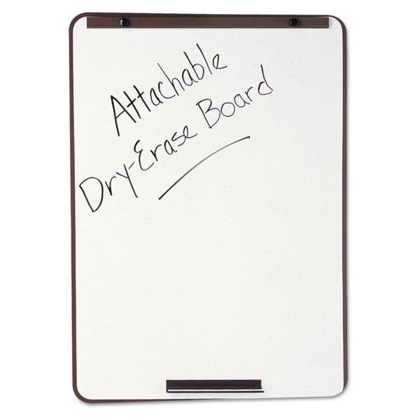 Quartet Oval Dry-Erase Board, 29 x 40, Metallic Bronze Finish Steel, Framed