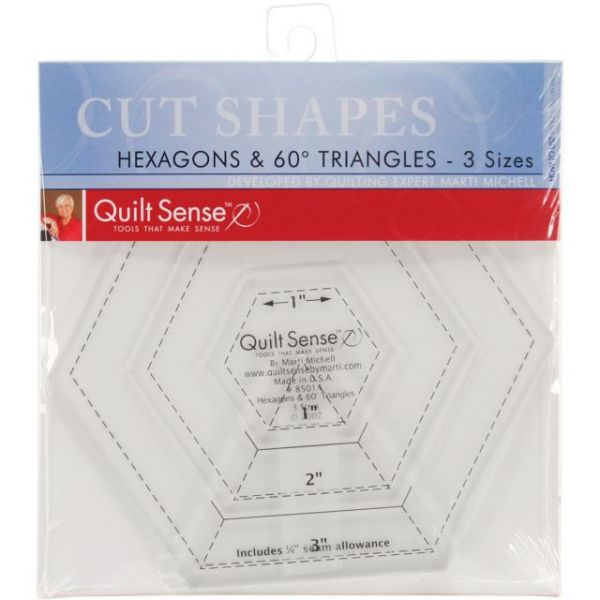 Quilt Sense Hexagons & 60 Degree Triangles Rulers
