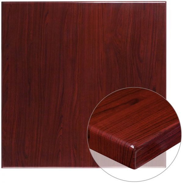"Flash Furniture 36"" Square Mahogany Table"