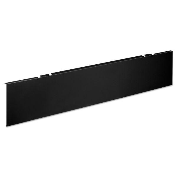 HON Huddle Series Multipurpose Table Modesty Panel, 44 1/2w x 1/8d x 9 5/8h, Black