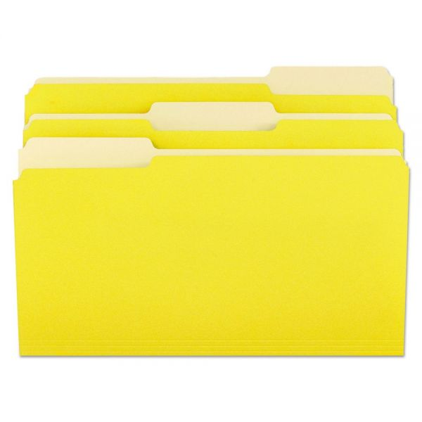 Universal Yellow Colored File Folders