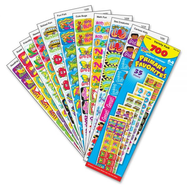 Trend Primary Favorites Applause Stickers Variety Pack