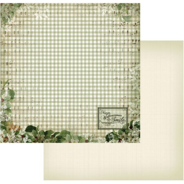 """Vintage Rose Garden Double-Sided Paper 12""""X12"""""""