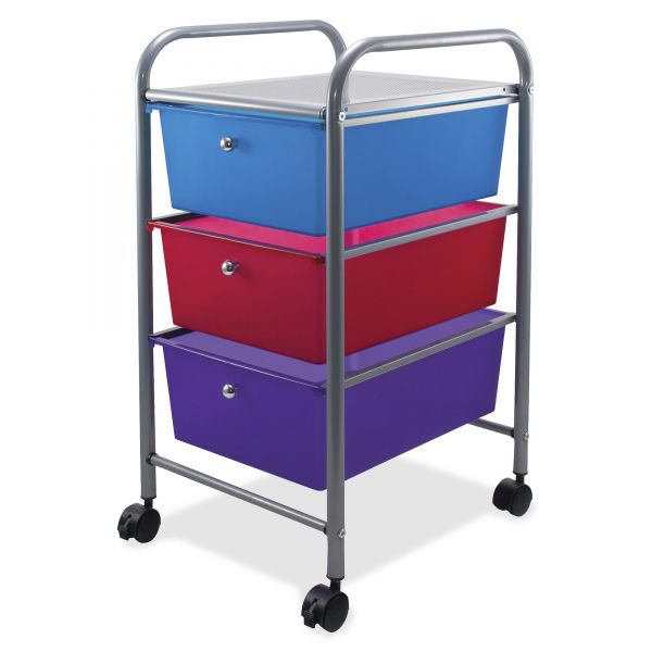 Advantus 3-Drawer Mobile Organizer Cart