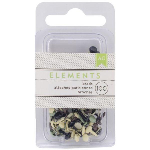 "Elements Mini Brads .125"" 100/Pkg"
