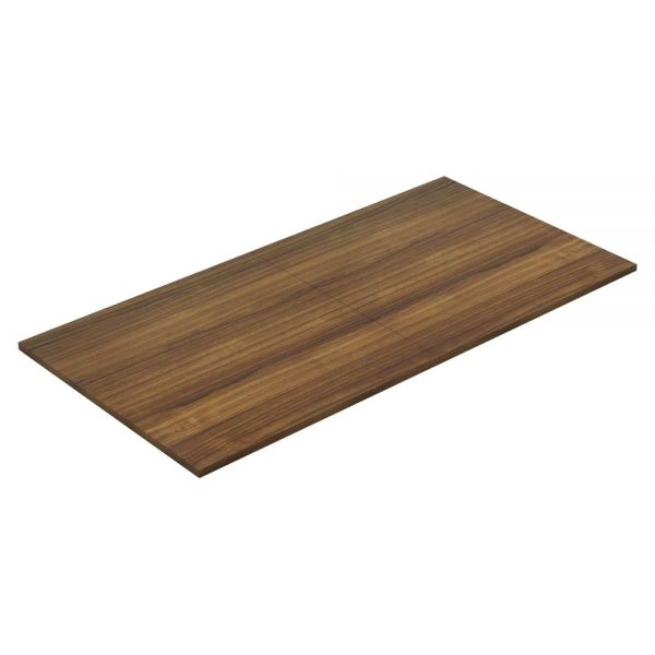 Lorell Chateau Walnut 8' Rectangular Conference Tabletop