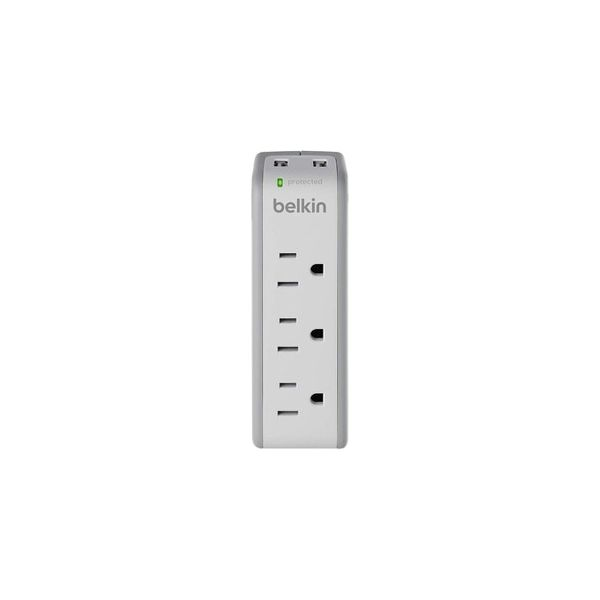 Belkin 3-Outlet Mini Surge Protector with USB Ports (2.1 AMP)