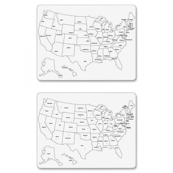 Two-Sided U.S. Map Whiteboard