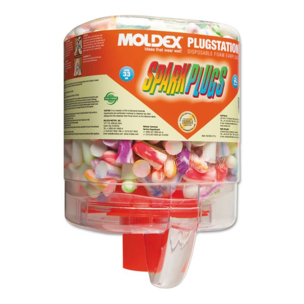 Moldex SparkPlugs Earplugs with PlugStation Dispenser