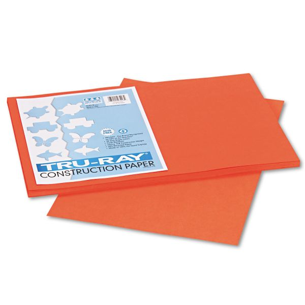 Tru-Ray Sulphite Orange Construction Paper