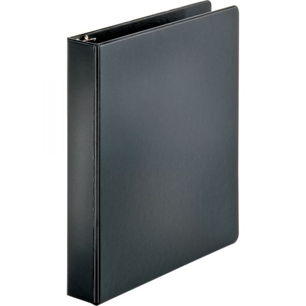"Sparco 1 1/2"" 3-Ring Binder, Letter Size, Round Ring, Black"