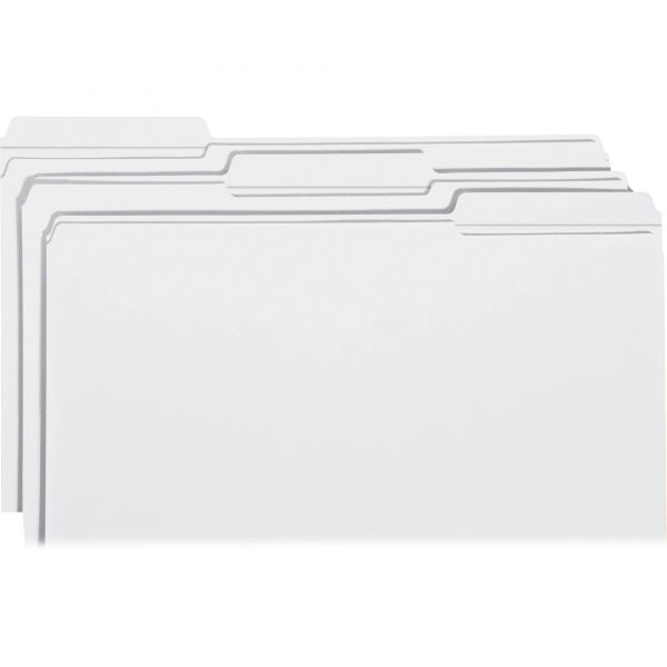 Smead White Colored File Folders with Reinforced Tab