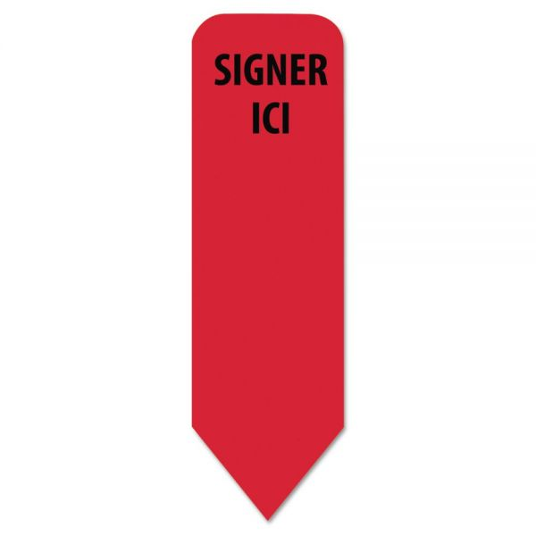 "Redi-Tag Arrow ""Signer Ici"" Flags"