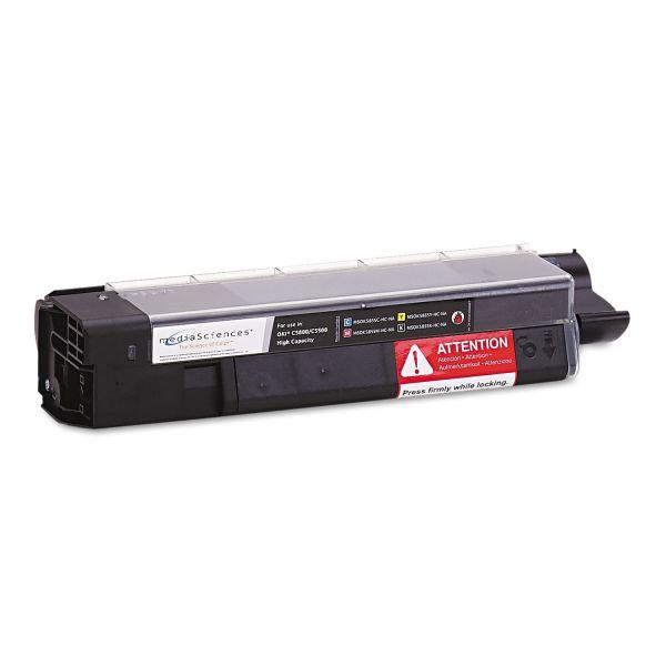 Media Sciences Remanufactured Oki 43324404 Black Toner Cartridge