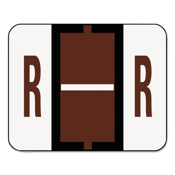 Smead BCCR Bar-Style Color-Coded Alphabetic Label - R