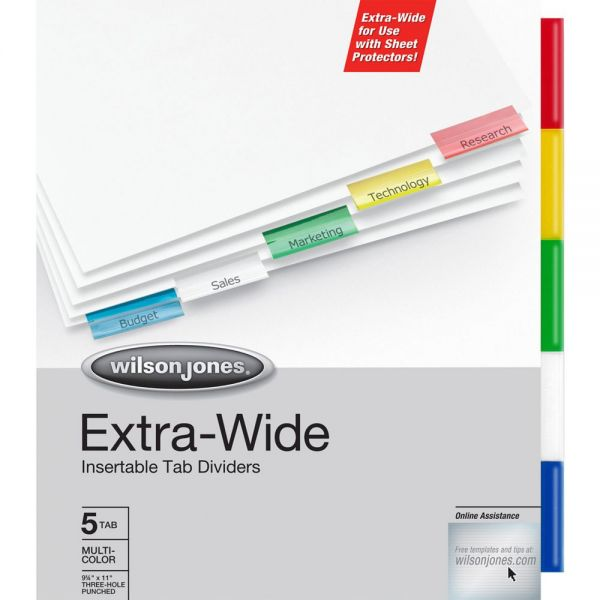 Wilson Jones Oversized Insertable Tab Index Dividers