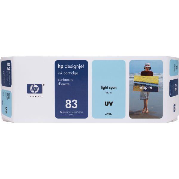 HP 83 (C4944A) UV Light Cyan Original Ink Cartridge