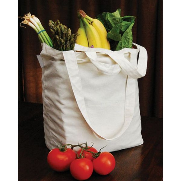 "Reusable Canvas Grocery Bag 14.5""X11.5""X6.5"""