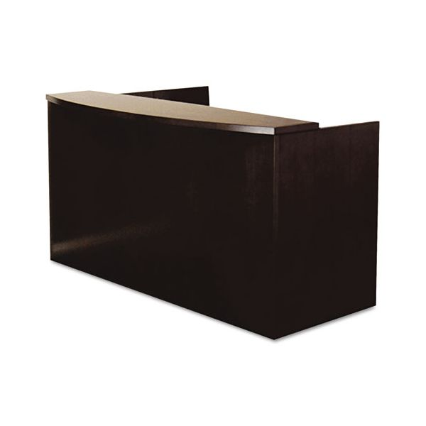 Mayline Mira Series Wood Veneer Reception Desk Shell, 72w x 36d x 43½h, Espresso