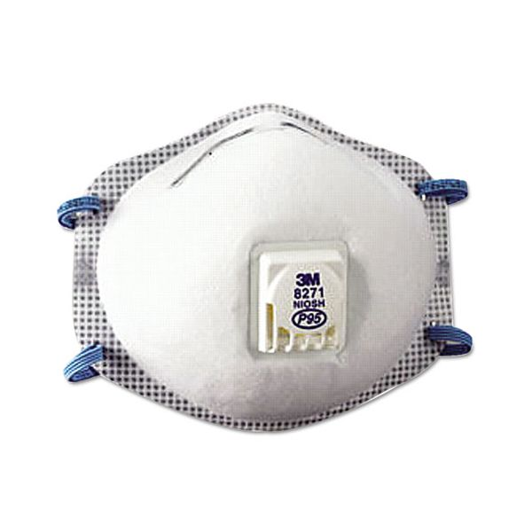 3M Particulate Respirator 8271, P95, 10/Box
