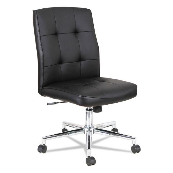 OIF Slimline Swivel/Tilt Task Chair, Black with Chrome Base