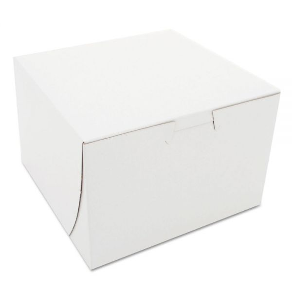 SCT Non-Window Bakery Boxes, Paperboard, 6 x 6 x 4, White, 250/Bundle