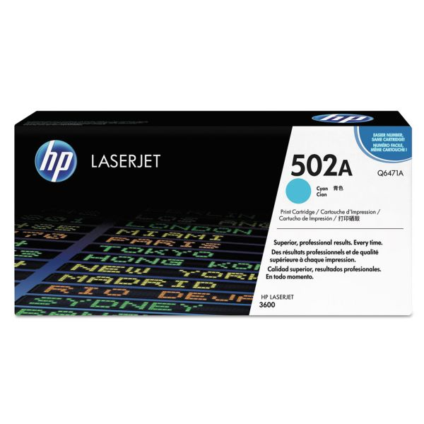 HP 502A Cyan Toner Cartridge (Q6471A)