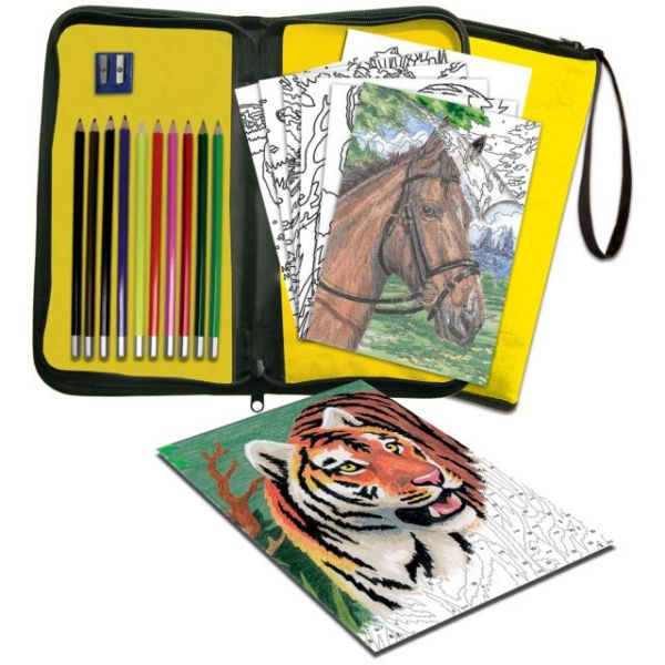 Big Kid's Choice Easy To Do Color Pencil By Number Keep 'N Carry Set