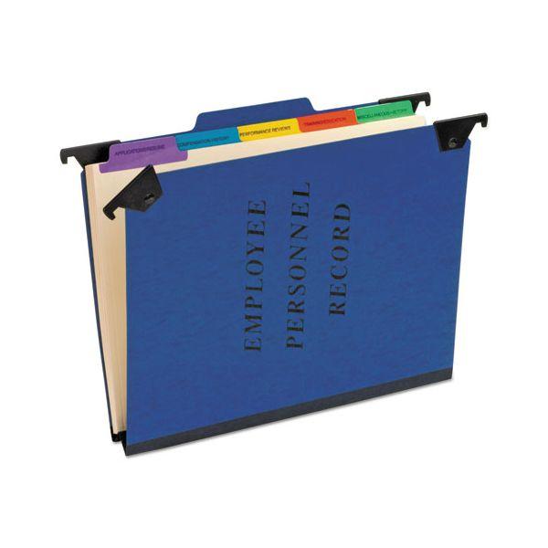 Pendaflex Personnel Folders, 1/3 Cut Hanging Top Tab, Letter, Blue