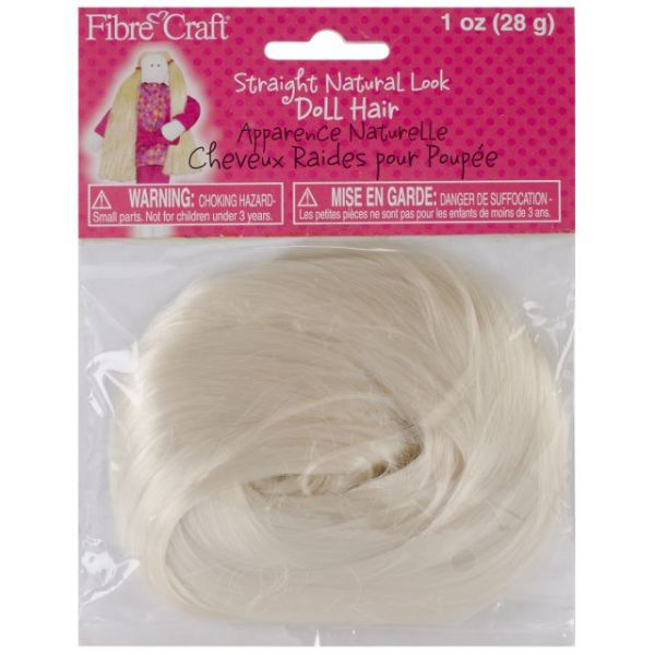 Straight Natural Look Doll Hair 1oz