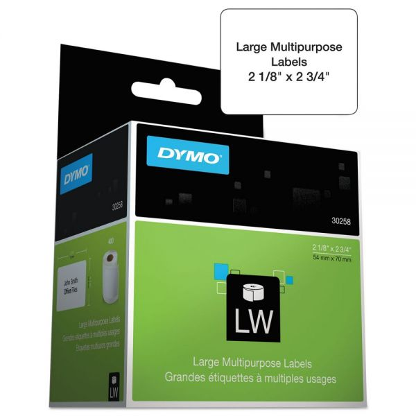 DYMO LabelWriter Multipurpose Labels, 1 x 1, White, 750 Labels/Roll