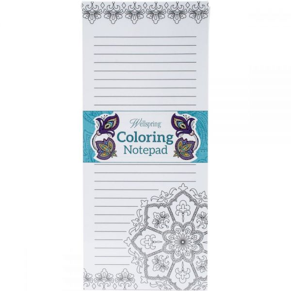 "Coloring Notepad 4""X9"" 40 Sheets"
