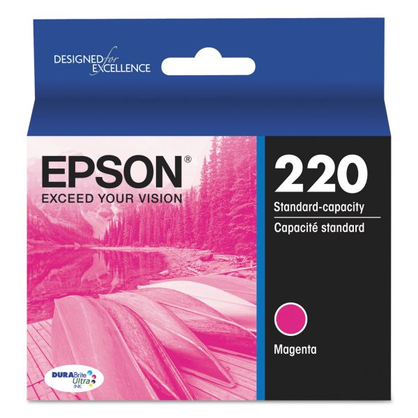 Epson 220 DURABrite Ultra Magenta Ink Cartridge (T220320)