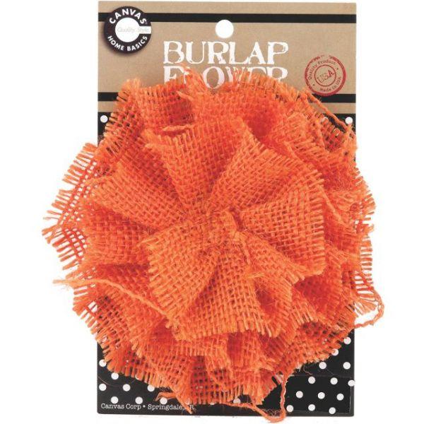 "Burlap Flower 4.5"""