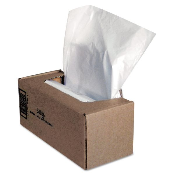 Fellowes Shredder Waste Bags, 25 gal Capacity, 50/CT