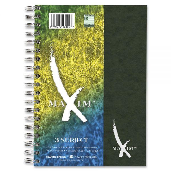 Maxim 3-Subject Notebook