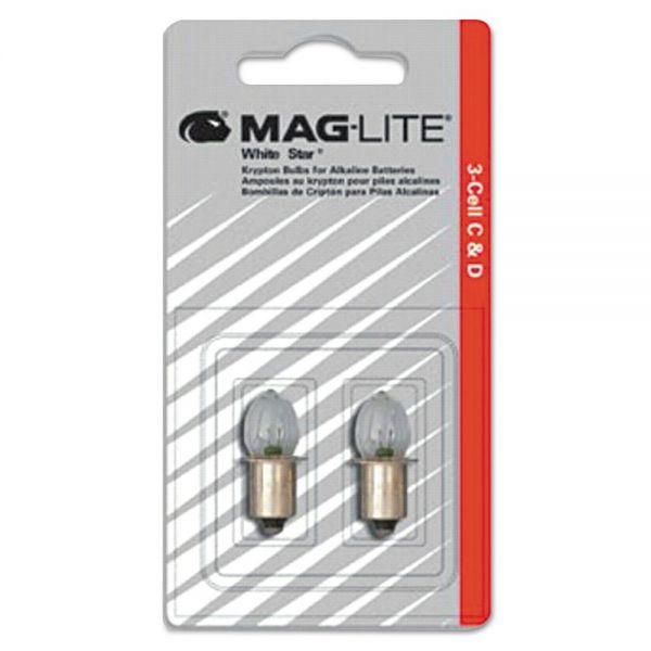 Maglite Replacement Lamp for AA Mini Flashlight, 2/Pack