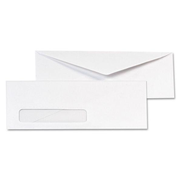 Quality Park Window Envelope, #10, 4 1/8 x 9 1/2, White, 1000/Box