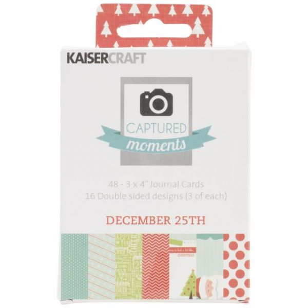 "Captured Moments Double-Sided Cards 3""X4"" 48/Pkg"