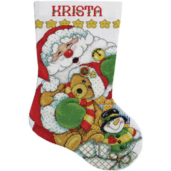Santa Stocking Counted Cross Stitch Kit