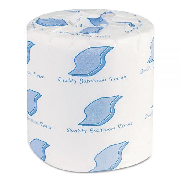 GEN Bath Tissue, Wrapped, 1-Ply, White, 1000/Roll, 96 Rolls/Carton